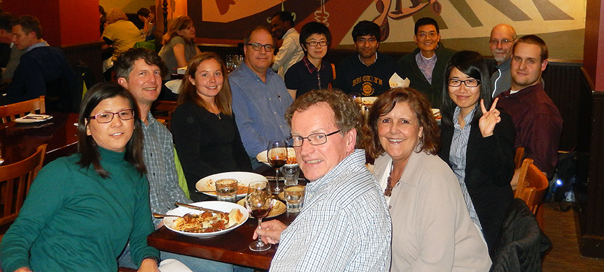 Alumni and current LAR members meet during the AGU meeting in San Francisco, Dec 2014